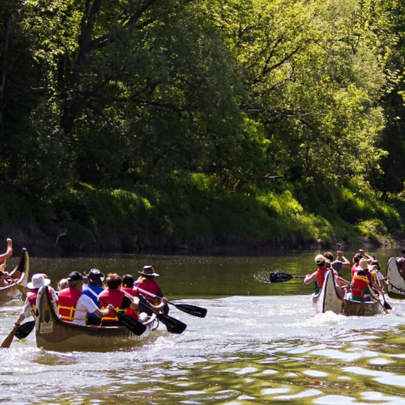 canoeing Paisley Ontario